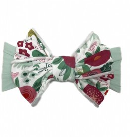 Baby Bling Jersey Bow (Seafoam Floral)
