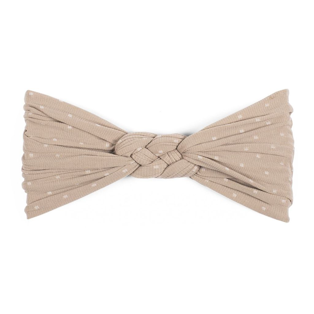 Baby Bling Sailor Knot (Taupe Dot)