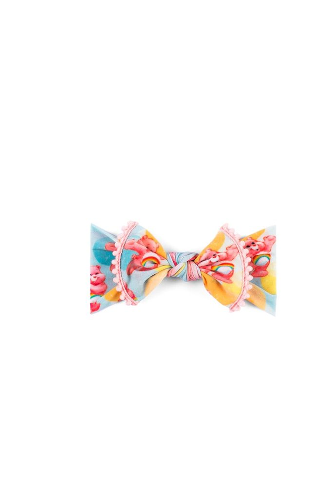 Baby Bling Care Bears Trimmed Printed Knot (Pastel Bubble)