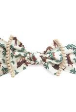 Baby Bling Trimmed Printed Knot (Reindeer)