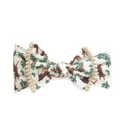 Baby Bling Trimmed Printed Knot (Reindeer)