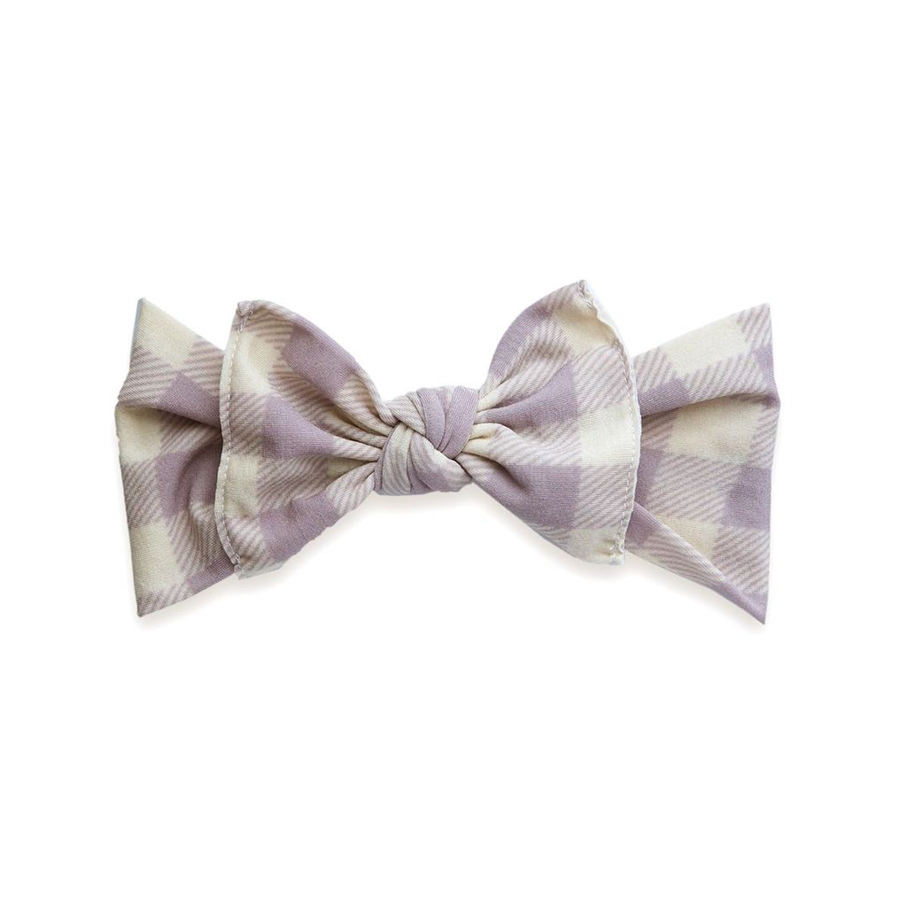 Baby Bling Printed Knot (Mauve/Ivory Buffalo Plaid)