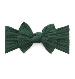 Baby Bling Cable Knit Knot (Forest Green)