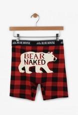 Hatley Bear Naked & Buffalo Plaid Boxer