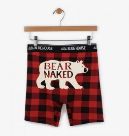 Hatley Bear Naked & Buffalo Plaid Boxer