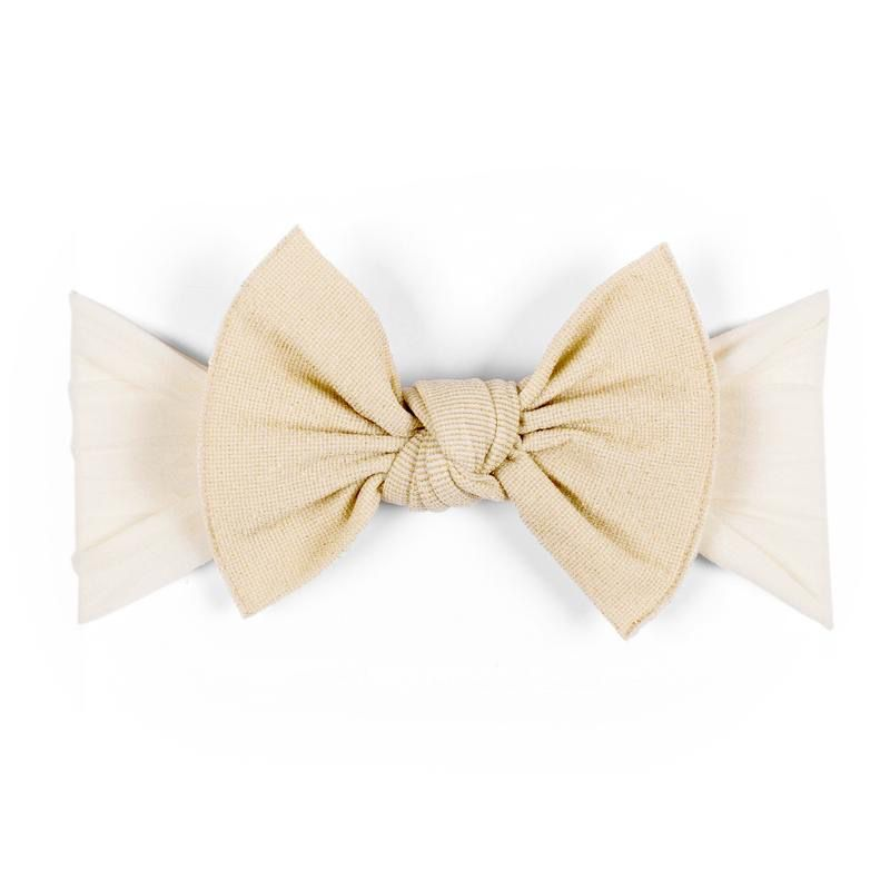 Baby Bling Metallic Knot (Ivory/Gold)