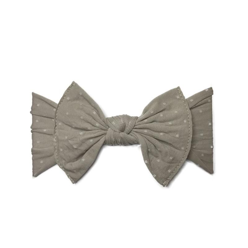 Baby Bling Patterned Knot (Taupe Dot)
