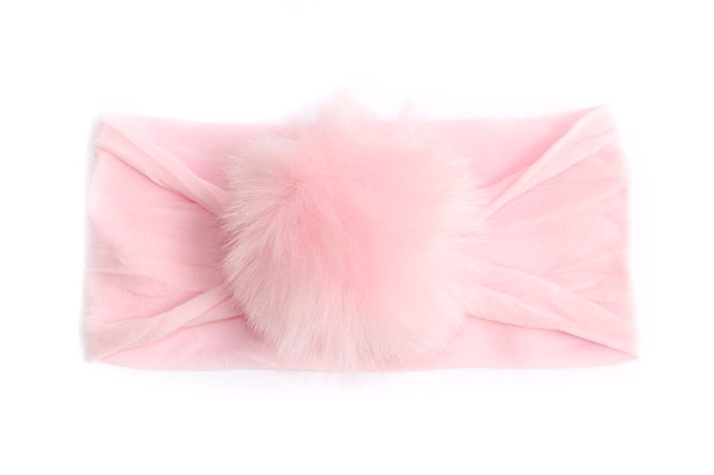 Baby Bling Rabbit Fur Pom (Pink)