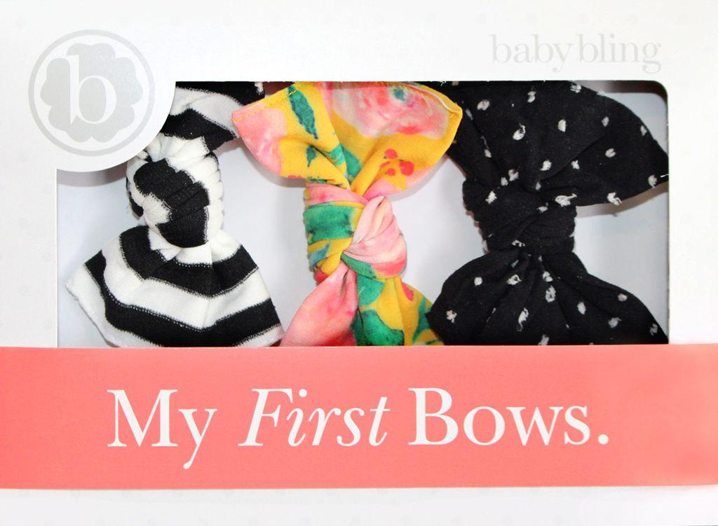 Baby Bling A Gift For You: Black Stripe/Floral/Shabby Black Dot
