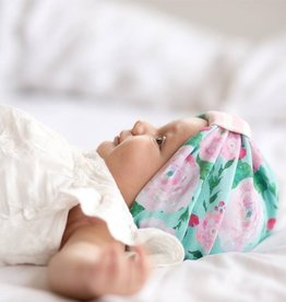 Baby Bling Reversible Turban (Floral Mint)