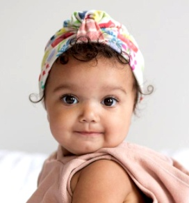 Baby Bling Reversible Turban (Bright Floral)