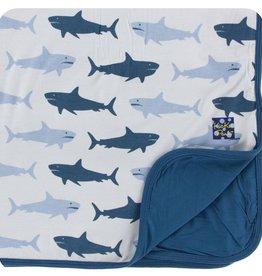 Kickee Pants Print Toddler Blanket (Natural Megalodon - One Size)