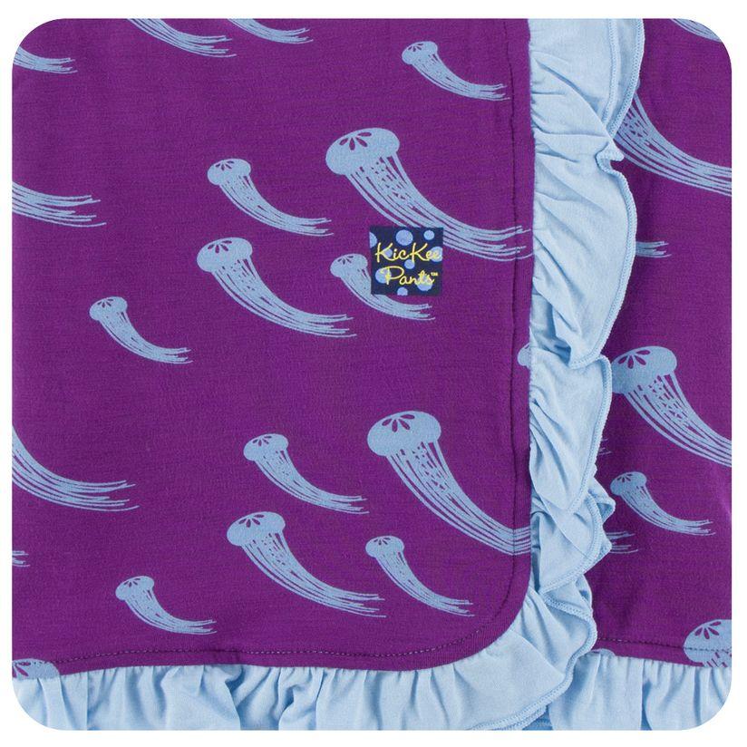 Kickee Pants Print Ruffle Stroller Blanket (Starfish Jellies - One Size)