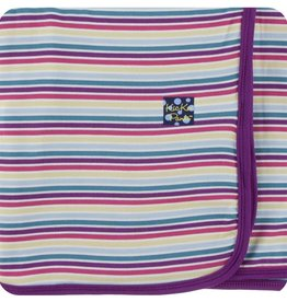 Kickee Pants Print Swaddling Blanket (Girl Perth Stripe - One Size)