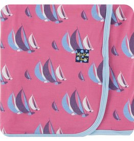 Kickee Pants Print Swaddling Blanket (Flamingo Sailing Race - One Size)