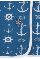Kickee Pants Print Swaddling Blanket (Twilight Anchor - One Size)