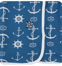 Kickee Pants Print Swaddling Blanket (Twilight Anchor - One Size)