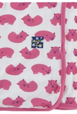 Kickee Pants Print Swaddling Blanket (Natural Wombat - One Size)