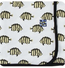 Kickee Pants Print Swaddling Blanket (Natural Butterflyfish - One Size)
