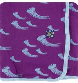Kickee Pants Print Swaddling Blanket (Starfish Jellies - One Size)