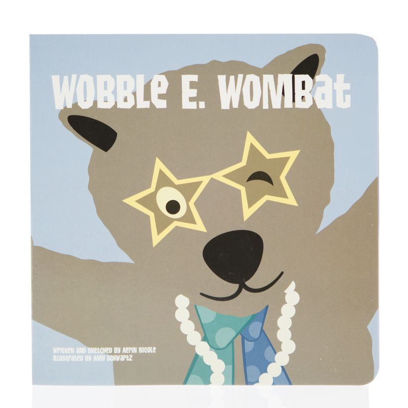 Kickee Pants Book (Wobble E. Wombat - One Size)