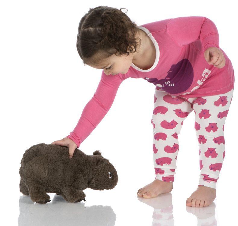Kickee Pants Plush Toy (Wobble E. Wombat - One Size)