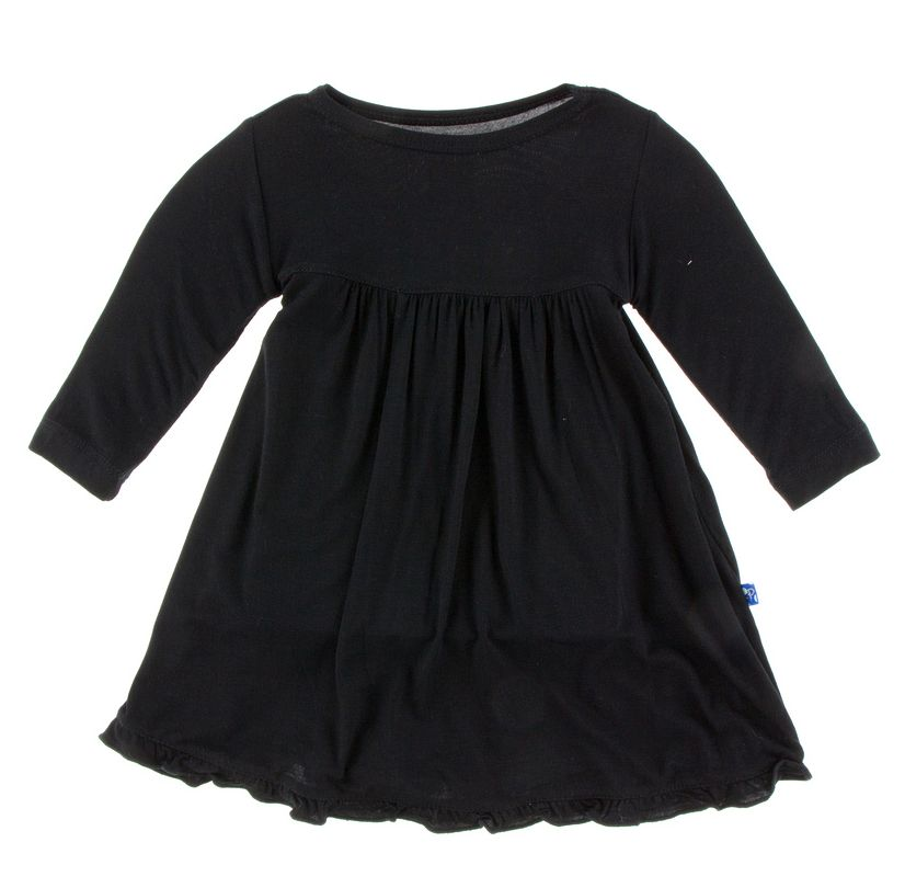 Kickee Pants Basic Classic Long Sleeve Swing Dress