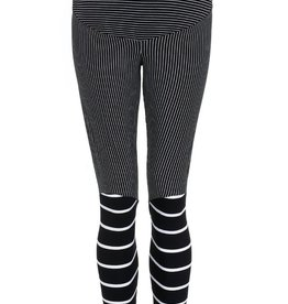 Avishag Arbel Maternty BLACK AND WHITE STRIPED TIGHTS.Small