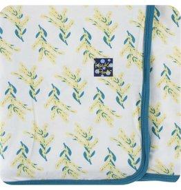 Kickee Pants Print Swaddling Blanket (Golden Wattle - One Size)
