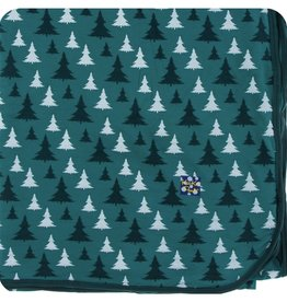 Kickee Pants Large Throw Blanket in Cedar Christmas Trees (One Size)