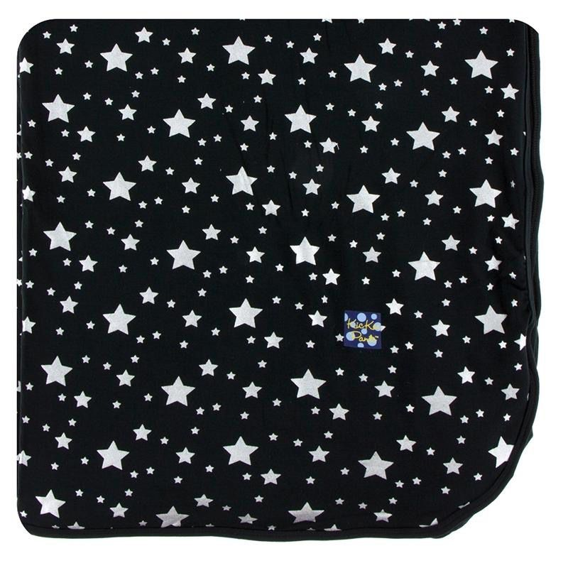 Kickee Pants Large Throw Blanket in Silver Stars (One Size)