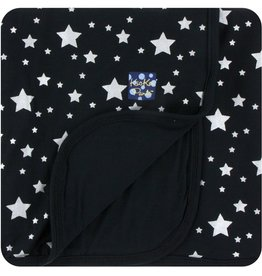 Kickee Pants Print Stroller Blanket in Silver Stars (One Size)
