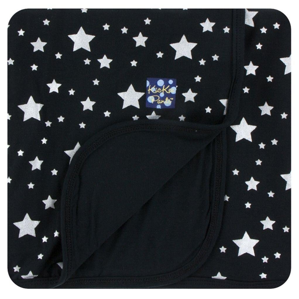 Kickee Pants Print Stroller Blanket in Silver Stars (One Size)