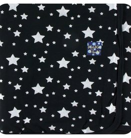 Kickee Pants Print Swaddling Blanket in Silver Stars (One Size)