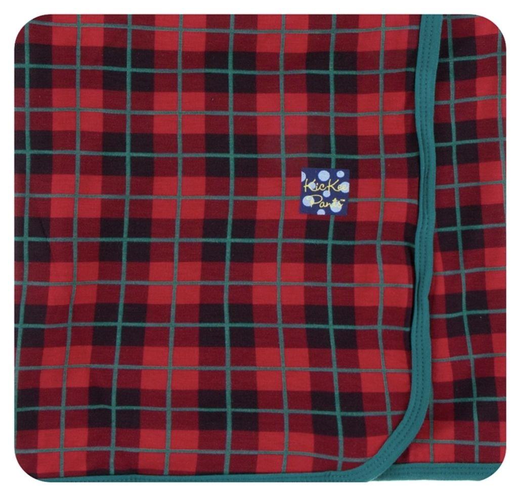 Kickee Pants Print Swaddling Blanket in Plaid (One Size)