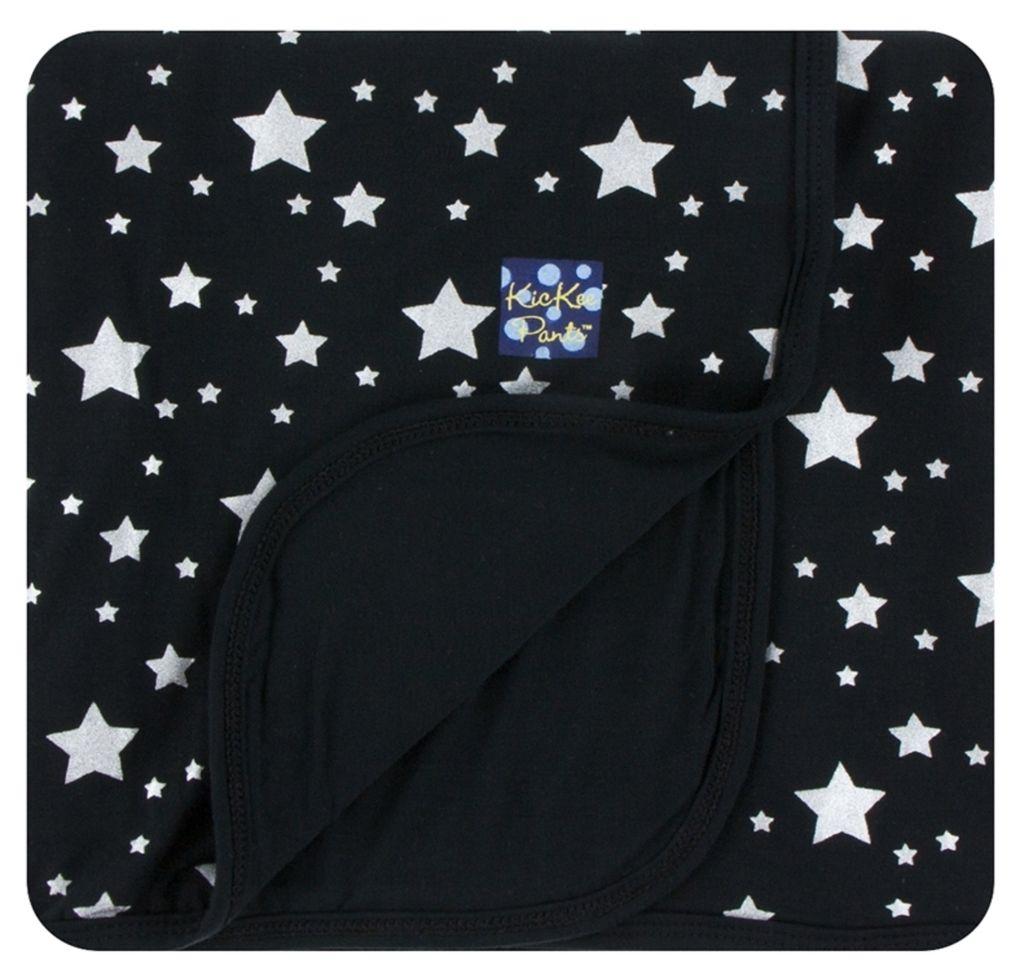 Kickee Pants Print Stroller Blanket in Silver Stars