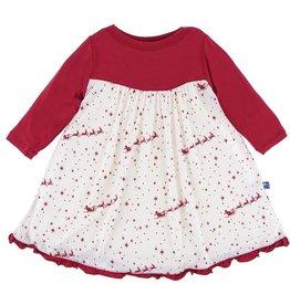 Kickee Pants Classic Print Long Sleeve Swing Dress