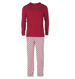 Kickee Pants Men's Long Sleeve Pajama Set