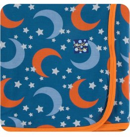 Kickee Pants Print Swaddling Blanket (Twilight Moon and Stars - One Size)