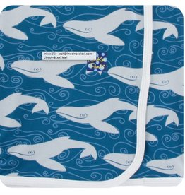 Kickee Pants Print Swaddling Blanket (Twilight Whale - One Size)