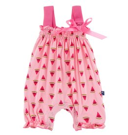 Kickee Pants Print Gathered Romper with Bow