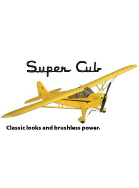 FLYZONE Flyzone NOW $225.00 Piper Super Cub Select Scale EP RTF 48""