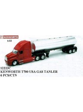 NewRay NEWRAY KENWORTH T700 WITH PETROLEUM TANKER 1/32 BLACK CAB
