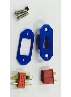 HY MODEL ACCESSORIES HY ALLOY ARMING UNIT   T PLUG TYPE WITH CONNECTORS  ( AVAIL RED OR BLUE )
