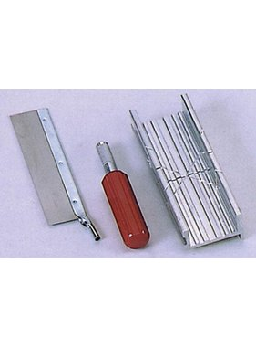 EXCEL EXCEL MITRE BOX SET WITH #5 KNIFE HANDLE & FINE TOOTH SAW