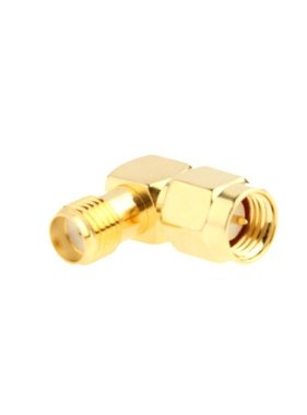 CHINA ELECTRONICS Gold Plated SMA Female to SMA Male Adapter with 90 Degree Angle