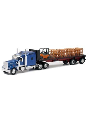 NewRay NEWRAY KENWORTH W900 FLATBED WITH FORKLIFT 1/32