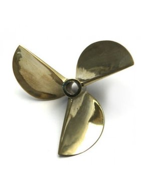 CHINA ELECTRONICS 3 Blades Boat prop 37mm  Copper Alloy Counterclockwise Prop Semi Submerged Prop 4.76mm shaft for Electric or Nitro Boat