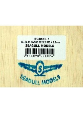 SEAGULL MODELS SEAGULL BALSA PLYWOOD 2.7mmX300x1200mm