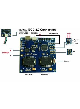 MAYTECH 2 AXIS MARTINEZ Gimbal Controller PCB'S